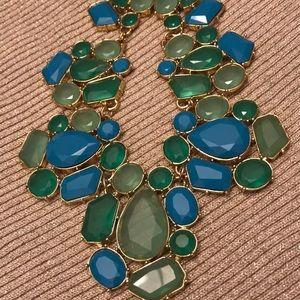 Kate Spade statement necklace goldtone hardware